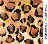 watercolor cheetah skin texture | Shutterstock . vector #498041917