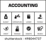 accounting. chart with keywords ... | Shutterstock .eps vector #498044737