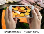 augmented reality marketing... | Shutterstock . vector #498045847