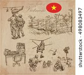 travel series  vietnam   war.... | Shutterstock .eps vector #498083497
