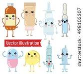 lovely children's characters on ... | Shutterstock .eps vector #498102307
