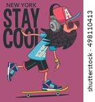 hipster  skater vector design | Shutterstock .eps vector #498110413