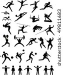 illustration with black sport... | Shutterstock . vector #49811683