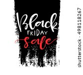 black friday sale. vector... | Shutterstock .eps vector #498118267