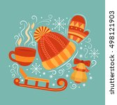 vector concept with symbols of... | Shutterstock .eps vector #498121903