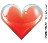 big red heart   isolated on... | Shutterstock .eps vector #498122263