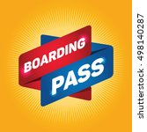 boarding pass arrow tag sign. | Shutterstock .eps vector #498140287