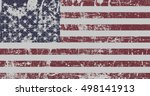 distressed flag of united... | Shutterstock . vector #498141913