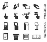 kiosk vector icons . modern... | Shutterstock .eps vector #498160363