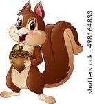 cartoon funny squirrel holding... | Shutterstock .eps vector #498164833