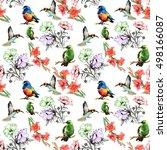 beautiful seamless pattern of... | Shutterstock . vector #498166087