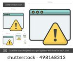 alert window vector line icon... | Shutterstock .eps vector #498168313