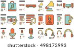 music vector line icon set... | Shutterstock .eps vector #498172993