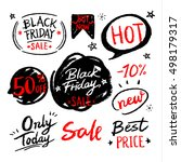 grunge black friday sale... | Shutterstock .eps vector #498179317