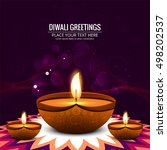 abstarct happy diwali background | Shutterstock .eps vector #498202537
