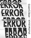 glitched error message art... | Shutterstock .eps vector #498214993