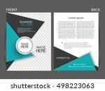 vector business flyer  magazine ... | Shutterstock .eps vector #498223063