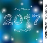 happy new year background.... | Shutterstock .eps vector #498231043