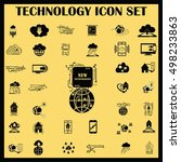 technology innovation icons set.... | Shutterstock .eps vector #498233863