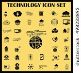 technology innovation icons set.... | Shutterstock .eps vector #498233893