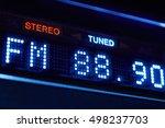 fm tuner radio display. stereo... | Shutterstock . vector #498237703