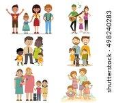 not ordinary set family  vector ... | Shutterstock .eps vector #498240283