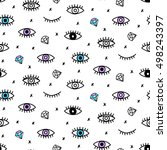 vector seamless pattern with... | Shutterstock .eps vector #498243397