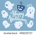vector halloween illustration... | Shutterstock .eps vector #498255727