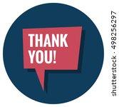 thank you  in speech bubble ... | Shutterstock .eps vector #498256297