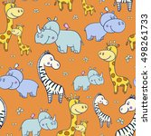 seamless pattern with cute... | Shutterstock .eps vector #498261733