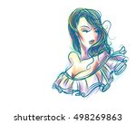 vector  stylish  original hand... | Shutterstock .eps vector #498269863