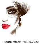 vector  stylish  original hand... | Shutterstock .eps vector #498269923