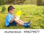 Little Boy Schoolboy In A Park...