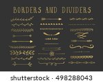 collection of gold decorative... | Shutterstock .eps vector #498288043
