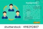 management conceptual banner | Shutterstock .eps vector #498292807