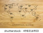 concept of global marketing and ... | Shutterstock . vector #498316903