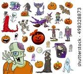 cartoon illustration of... | Shutterstock .eps vector #498328873