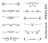 vector set of calligraphic... | Shutterstock .eps vector #498331303