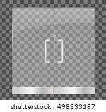 transparent glass door ...   Shutterstock .eps vector #498333187