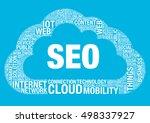 seo cloud computing  vector...   Shutterstock .eps vector #498337927