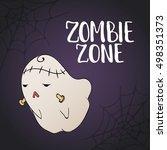 zombie zone   halloween party... | Shutterstock .eps vector #498351373
