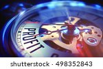 watch face with profit wording... | Shutterstock . vector #498352843