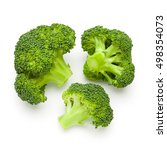 broccoli isolated on white... | Shutterstock . vector #498354073