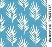 seamless pattern with brush... | Shutterstock .eps vector #498355867