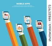 concept for mobile apps  flat... | Shutterstock .eps vector #498357973