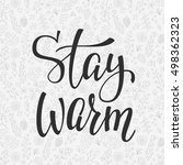 winter cold lettering.... | Shutterstock .eps vector #498362323