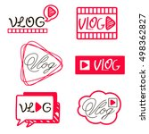 youtube video channel player.... | Shutterstock .eps vector #498362827