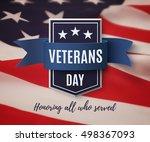 veterans day background... | Shutterstock .eps vector #498367093