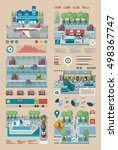 transportation infographic | Shutterstock .eps vector #498367747