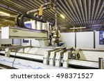 automatic robot machine at... | Shutterstock . vector #498371527